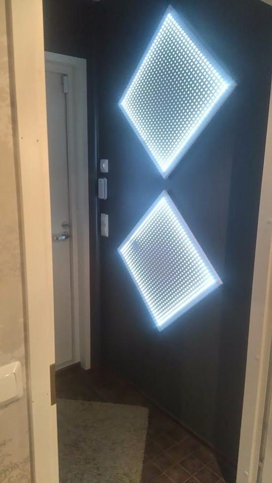 Lapin Sisustuspalvelu Oy Rovaniemi LED valoruudut seinässä